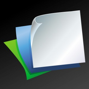 Vector template with paper pages